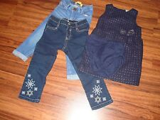 Todder Girls Gymboree/Old Navy Jeans 2T&3T/OshKosh B'gosh Jumper/Dress Sz. 24M
