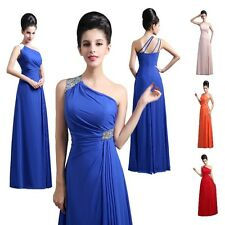 New Simple Chiffon Evening Formal Gowns Full Length Prom Bridesmaid Party Dress
