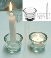 2 in 1 Votive Taper Tea Light Stick Candle Holder Glass Party Decor Wedding