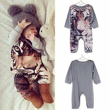 Newborn Kids Baby Boy Girl Infant Animal Romper Jumpsuit Bodysuit Clothes Outfit
