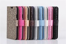 Diamond Flip Leather Stand Slim Magnetic Case Cover For Samsung S5/S6/Edge/A8