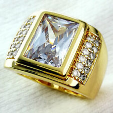 18k Gold Filled CZ Wedding Engagement Ring Band size 9(S)-15(z+5)  r199