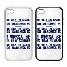 Chant Spurs March White Back Navy Text - Rubber or Plastic Phone Cover Case