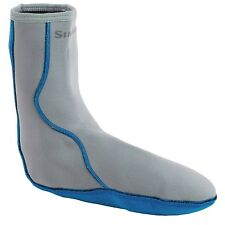 Simms Men's Neoprene Wading Socks - Choose Your Size - Gray / Blue Color - NEW!