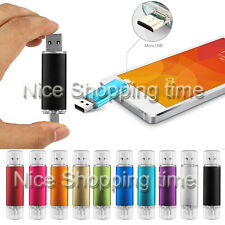 OTG 2*PORTS 4GB-32GB USB Drive Flash Memory Stick For Smart Phone PC Tablet