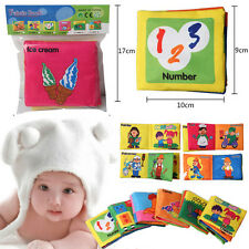 Hot Infant Baby Child Intelligence Development Cloth Book Cognize Book Toy FMCA