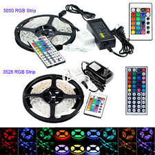 SMD 3528 5050 5M 300 LED RGB Strip Car Light Waterproof + Power + RF/IR Control