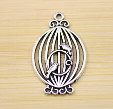 10/30/60 pcs Retro very Lovely birdcage silver alloy charms Pendants 33X21 mm