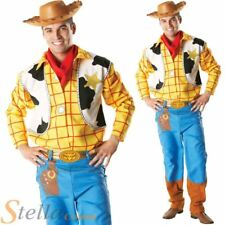 Adult Mens Woody Toy Story Costume Disney Cartoon Cowboy Fancy Dress Outfit