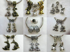 Easter Bunnies All Sizes Shapes Colors Charms European Jewelry 9 Choices