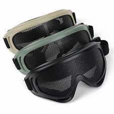 Tactical Airsoft Hunting Metal Mesh Lens Goggle Sports Safety Glasses Eyewear