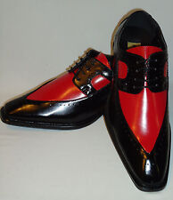 Antonio Cerrelli 6607 Mens Most Elegant Black, Red Spectator Fashion Dress Shoes