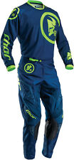 Thor Mens & Youth Navy Blue/Lime Green Phase Gasket Dirt Bike Jersey & Pants MX