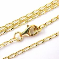 Gold Plated Sterling Silver Necklace, Bracelet, Anklet-Diamond Cut Curb Chain