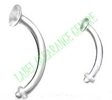 Eyebrow or Belly Retainer Bar with Clear O ring