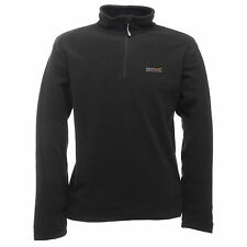 REGATTA MENS THOMPSON LIGHT WEIGHT OUTDOOR ADVENTURE FLEECE BLACK RMA021
