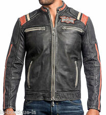 Affliction Black Premium - SPEED SHOP - Men's Leather Biker Jacket - NEW - Black