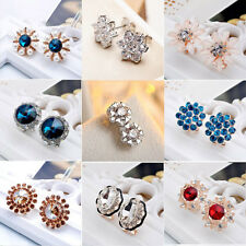 Fashion Elegant Women Crystal Rhinestone Earrings Hoop & Stud Earrings 1 Pair