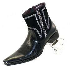 XL131 CLEVIS Men Dress Fashion Shoe black Leather Boot
