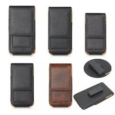 Vintage Mens Leather Holster Phone Case Storage Pouch Rotating Belt Clip 4 size
