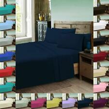 Percale Fitted Flat Sheet Bed Non Iron Single Double Super King Size Pillow Case