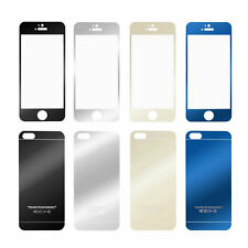 Color Mirror Premium Real Tempered Glass Screen Protector For iPhone 5 5S OY