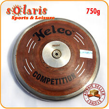 Nelco Wooden Discus 65% Rim Weight Steel Rim School Athletics Competition IAAF