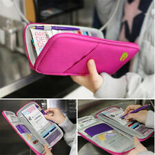 Travel Wallet Passport Holder Document Bag Credit ID Card Purse Case Handbag