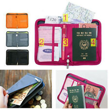Travel Wallet Passport Holder Credit ID Card Purse Case Document Handbag Bags