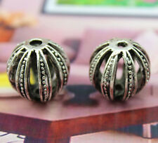 6/12/25 pcs Retro style lantern circular Hollow out alloy charm beads 20x19 mm