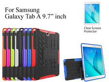 "For Samsung Galaxy Tab A 9.7"" Heavy DutyTPU Back Stand case & screen protector"