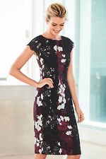 NEW EziBuy Grace Hill Lace Trim Print Dress