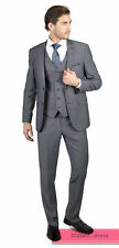 Gray Silm Fit Best Man Suit Groomsman Tuxedos Men's Wedding/Prom 3 Piece Suits