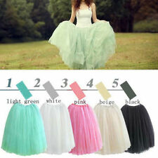 5 layers Women Girl Princess Tulle Dress Bouffant Skirt Fairy Style Spring Dress