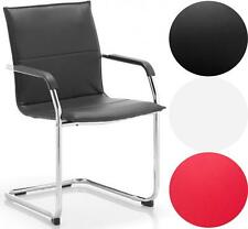 Echo Visitor Chair | Chrome Cantilever Frame | Black, White or Red Leather