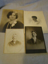 Lot of 4 Vintage Early 1900's Portraits Photographs 111638
