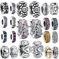 Hot Design Spacer Bead 925 Silver Charms Diy Jewelry For Genuine Bracelet Chain