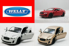 Welly 1:34-1:39 DIECAST Bentley Continental Supersports Car Gold / White / Red