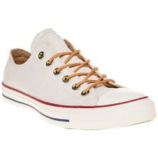 New Mens Converse White Natural All Star Ox Textile Trainers Canvas Lace Up