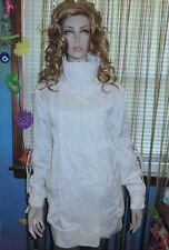 NEW! MILLARD FILLMORE White ANORAK Lined SPRING JACKET Trench Coat $138 L