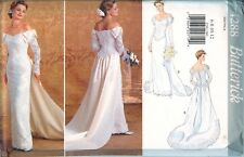 Butterick 4288 Wedding Bridal Dress Gown Off Shoulder Sewing Pattern UNCUT FF