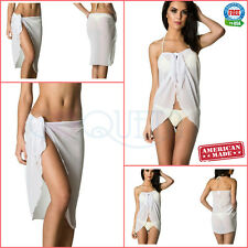 Coqueta Cover Up Pareo  Bathing Suit Swimsuit Sarong Ladies Chiffon Beach Wrap