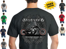 Bobber Custom Motorcycle Chopper New Mens Biker Short Sleeve T Shirt S-4XL