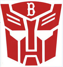 BOSTON RED SOX TRANSFORMERS LOGO VINYL DECAL (Autobot and Decepticon)