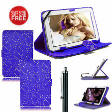 Universal Diamond Bling Folio Stand Case Cover For All 7inch Tablets Tab Android