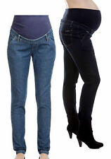 Ninth Moon Skinny Leg Maternity Denim Jean - Dark or Blue Wash