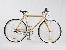 SAMSON CYCLES,GOLD, SHIMANO,NEXUS INTERNAL,3 SPEED, ROAD BIKE WITH FREE PUMP