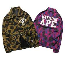 Men's Japan A bathing Ape Little Logo Camo Bape Button Wind Jacket Coat 4 Color