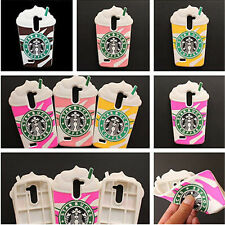 3D Starbuck Coffee Cup Rubber Silicone Back Cover for Smartphone Soft Case Skin