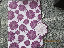 STUNNING PURPLE FLORAL  WRAPPING PAPER AND MATCHING GIFT TAG  TAKE A LOOK